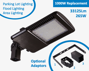 Hitecnico 265W LED Luminaires for 1000W Replacement