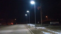Hitecnico 160W LED Parking Lot Lights Successful Project in US
