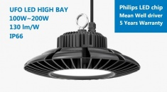 Hitecnico 200W UFO LED High Bay IP66 with 26000 lm to Replace 500W MH